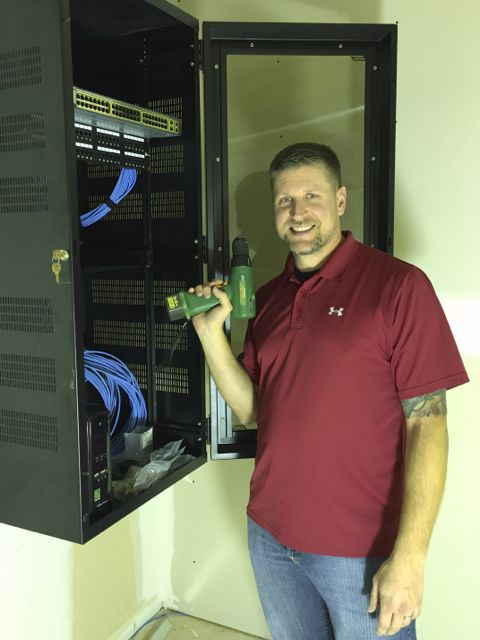 ECLC member Justin Bodie is installing a new office hub and firewall in anticipation of a network cutover later next week.