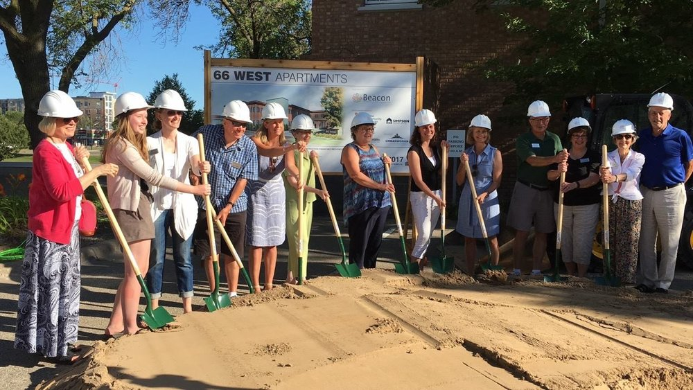 Breaking ground on 66 West, 39 apartments for formerly homeless youth in our neighborhood!