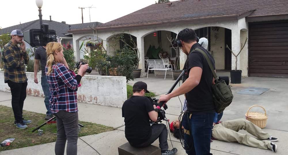 - Directing Lil' Roja N the Hood on location in Norwalk, CA.
