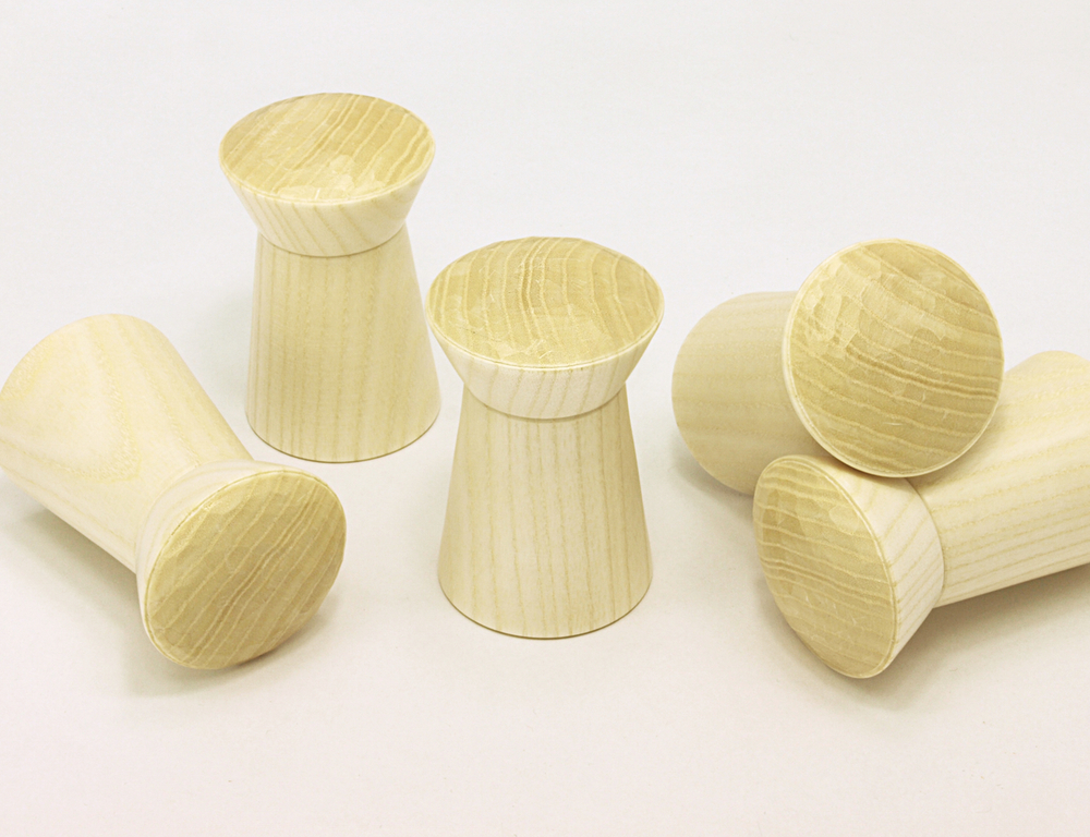 set of five ash pegs