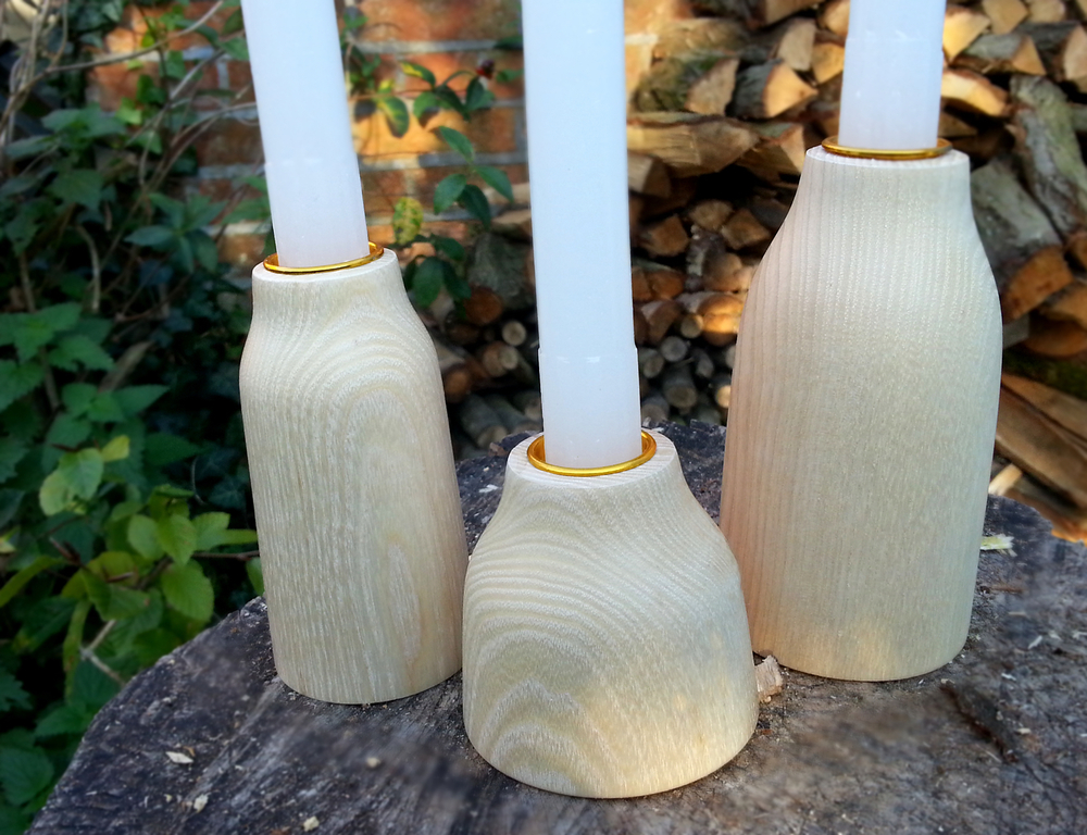 The Bk (bottle kiln) candle holder in ash
