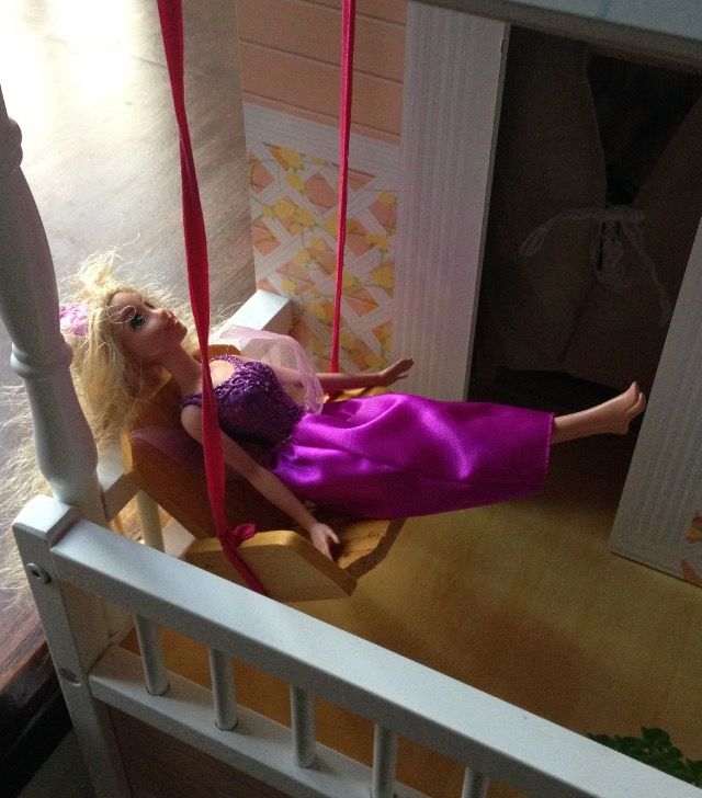 Finally some time to myself, hidden away where no one can find me. I am also changing my name and definitely keeping this outdoor swing!