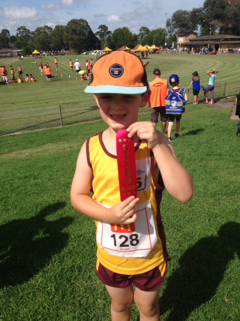 Jack's Ribbon from the 50m sprint.... Proud Explosion!