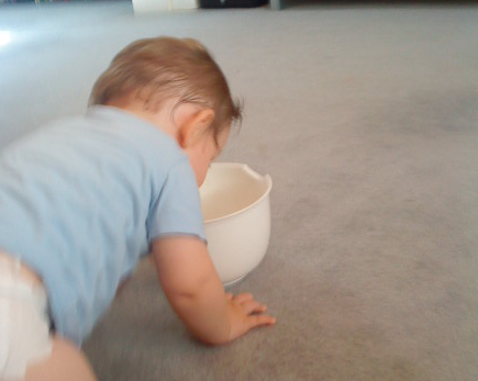 Jack's new role play game of vomiting in a bucket