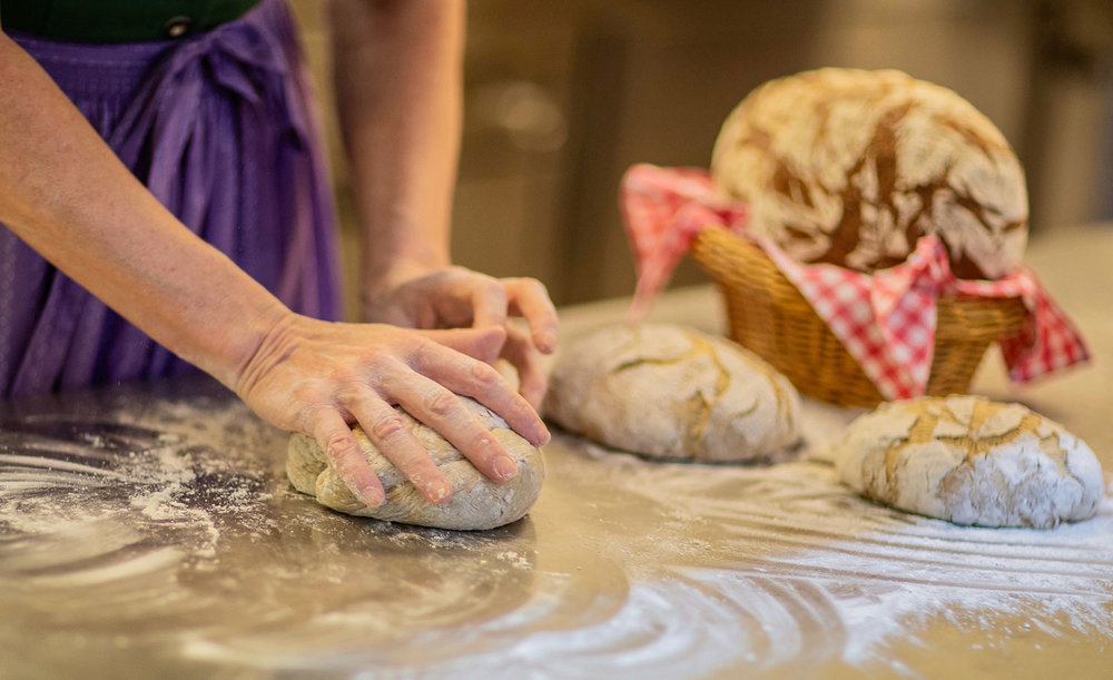 Wir backen unser Brot selber    Speisekarte