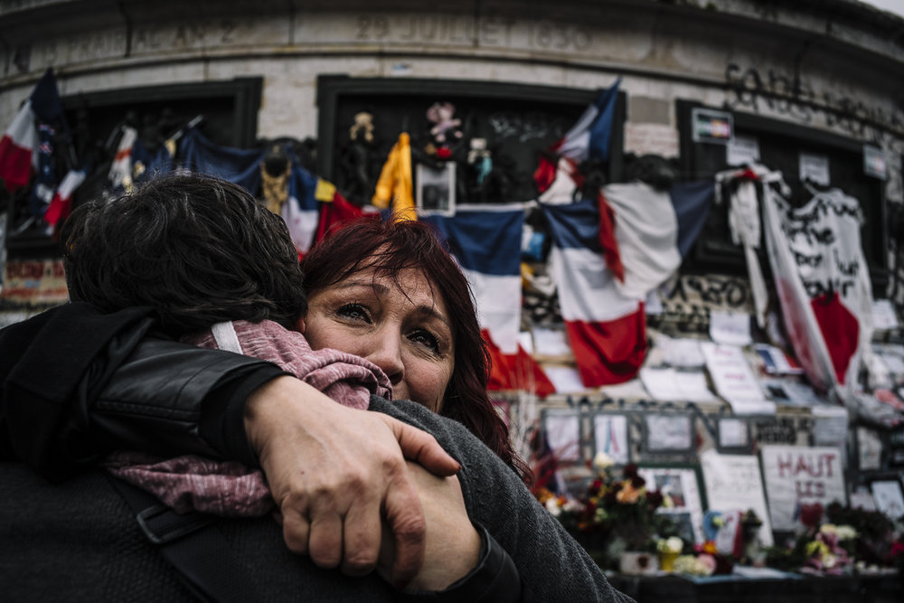 Commemorative Ceremony for Paris Attack Victims. Place de la République, Paris, 2016