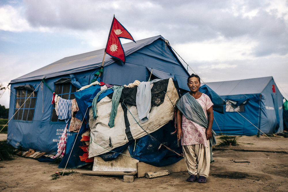 Survivors of Nepal twin earthquakes. Nepal, 2015
