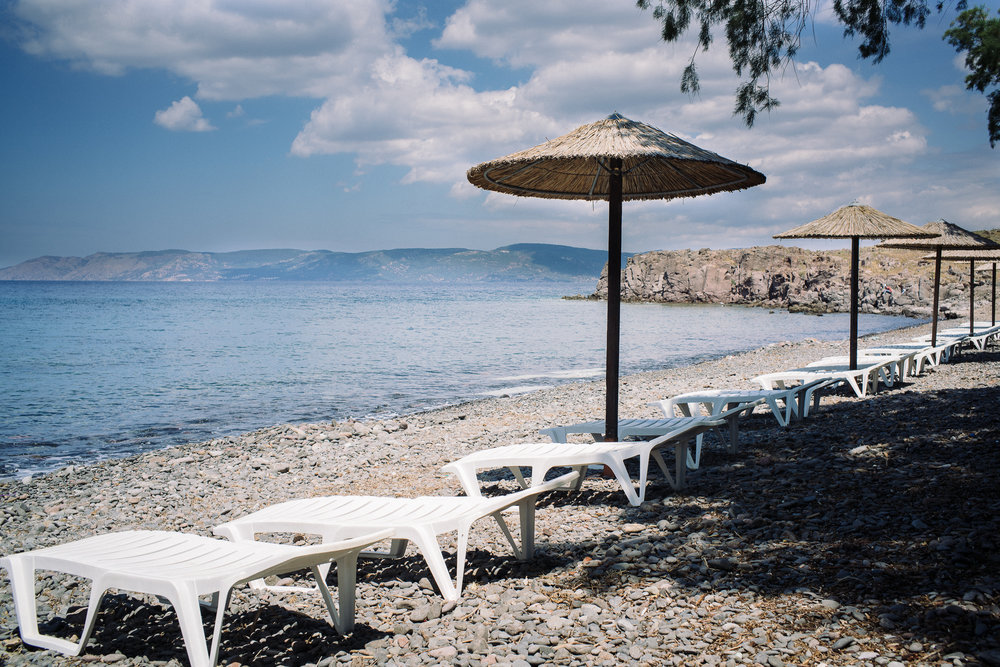 "The hotel's business took a hit after the media began reporting that the boat arrivals have landed on Aphrodite Hotel's private beach which is the closest point to Turkey that is on the other side of the Aegean. Despite that, Ms Aphrodite, the owner of the hotel, said, ""If we have to do it all over again, we would. There is no doubt about it at all."""