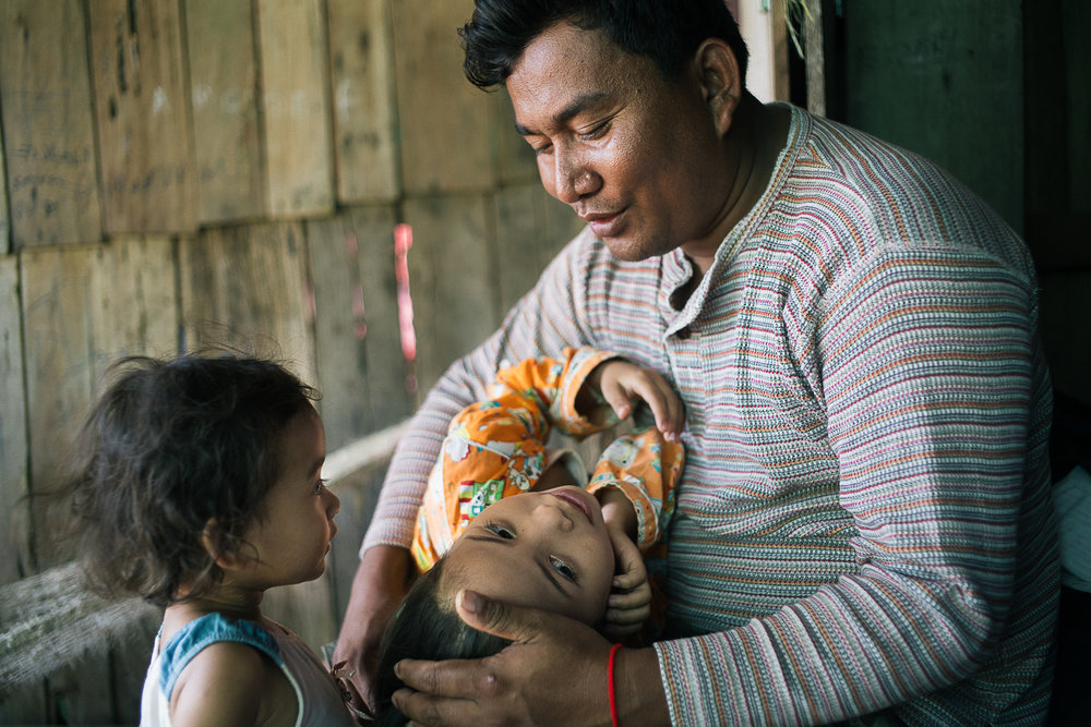 Srun Sok, 37, a father of four girls, said he was once threatened by the local authorities for joining a campaign to stop sand dredging in the area. He fears that if he is taken to jail, there would be no one left to fend for his family.