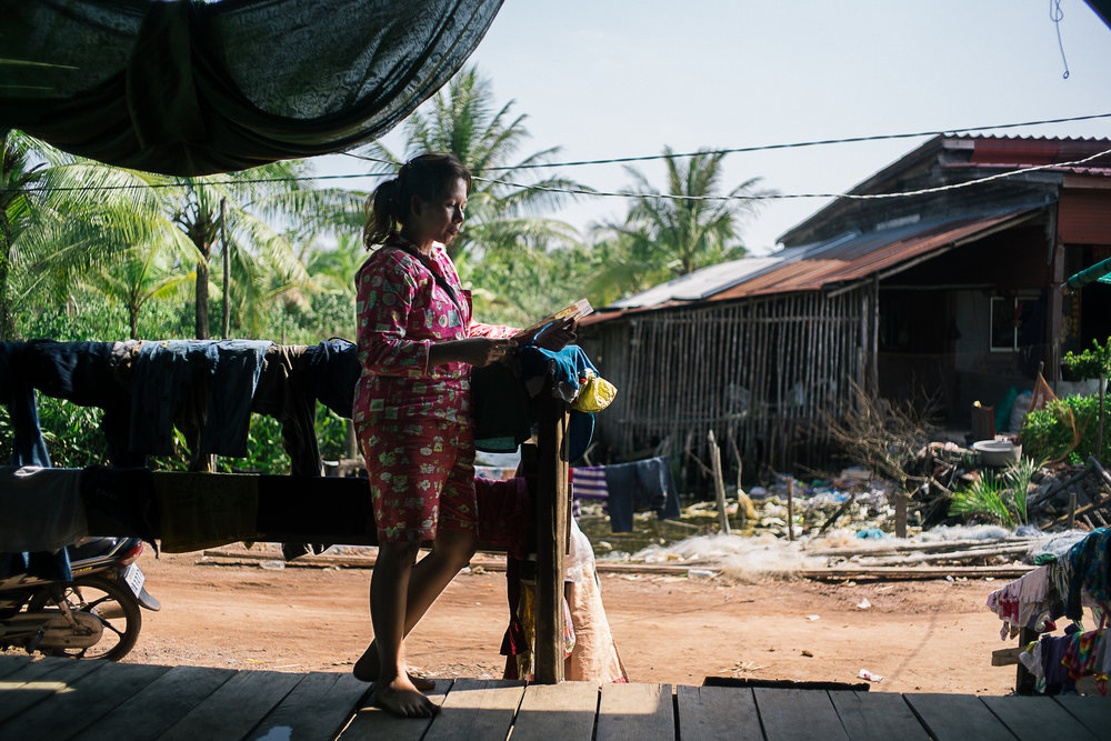 Srun's wife, Paat Pana, 35, chooses to live one day at a time and not worry about the future. With discrimination and accusations from the authorities as trouble makers, Paat said that her family is only thinking about survival.