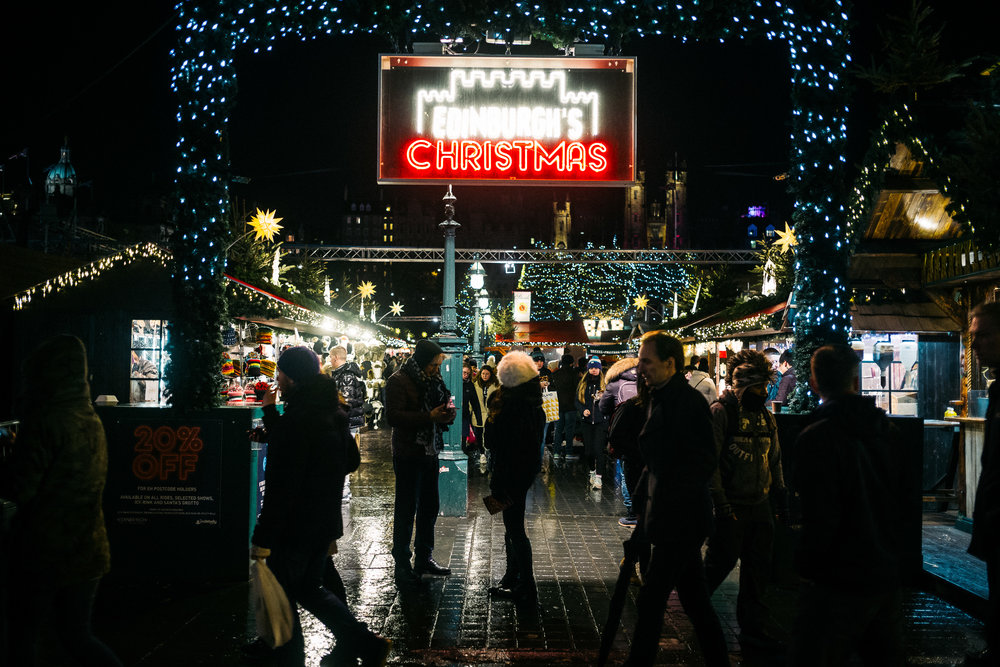The Edinburgh Christmas Market, a magical place where it all happened at ..