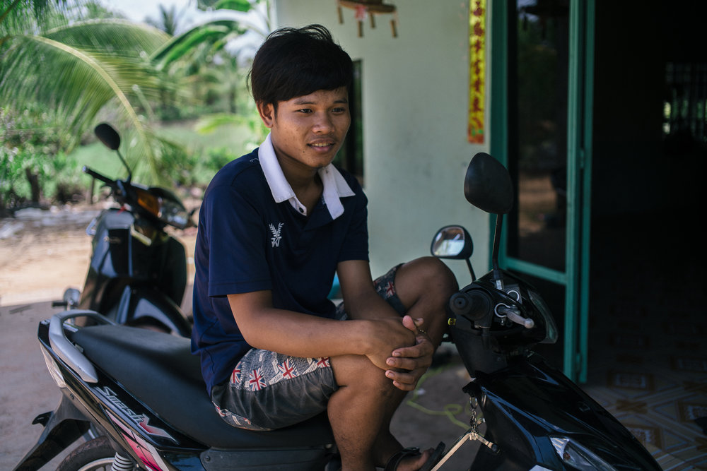 Tet's oldest son, Kun Panha, 19, wishes to be an IT engineer instead to help his father with the medical bills.