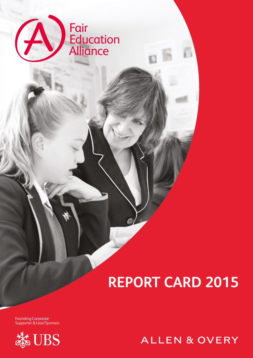 Report Card 2015 (Published April 2016)