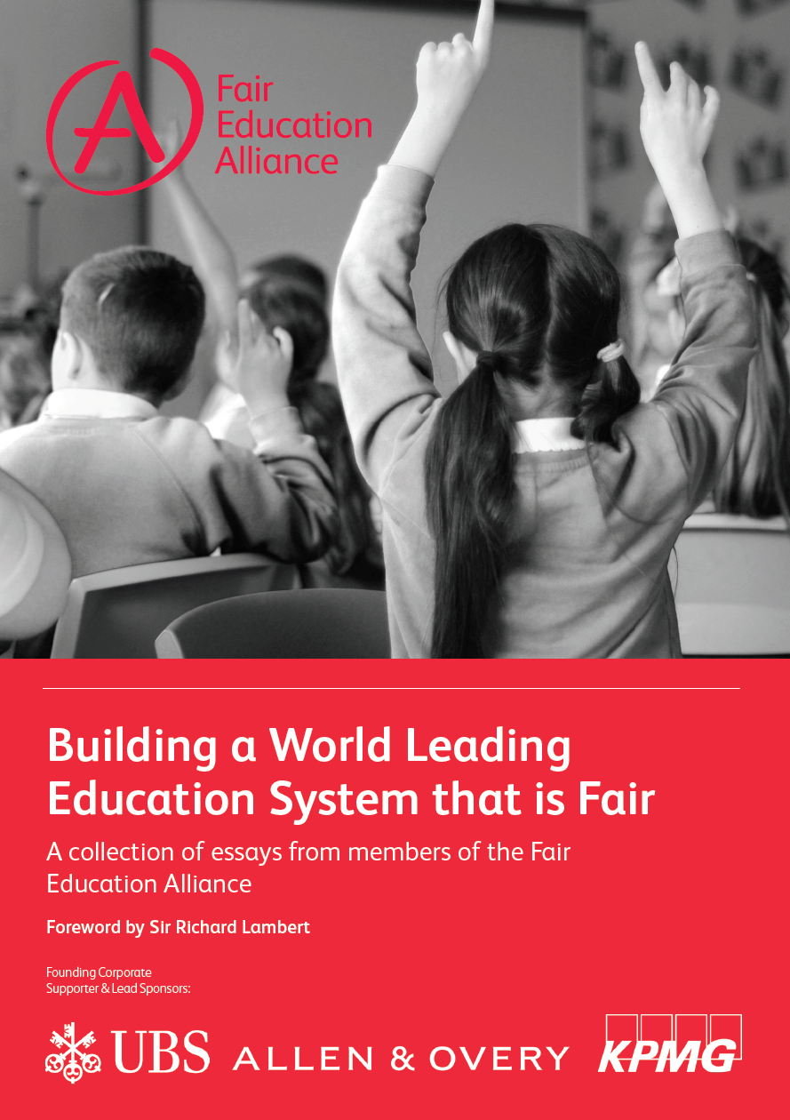 fair education alliance in the global race for excellence in for international student assessment will be a wake up call for the uk in a series of essays entitled building a world class education system