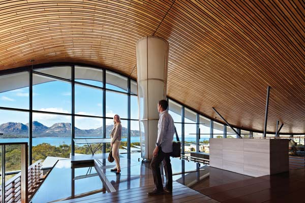 Saffire Freycinet - Saffire Freycinet is a coastal sanctuary capturing the essence of Tasmania's most sublime coastal region, the Freycinet Peninsula. The 20-suite retreat is located on the inside of a gentle curve of sandy coastline that joins the peninsula to mainland Tasmania.
