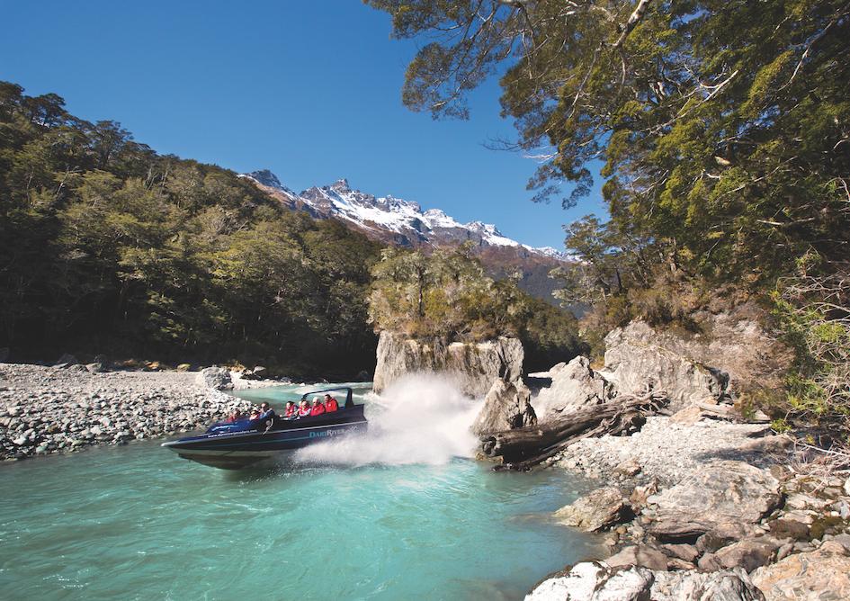 乘坐喷射快艇欣赏南阿尔卑斯山壮美景色 - 奥塔哥 -
