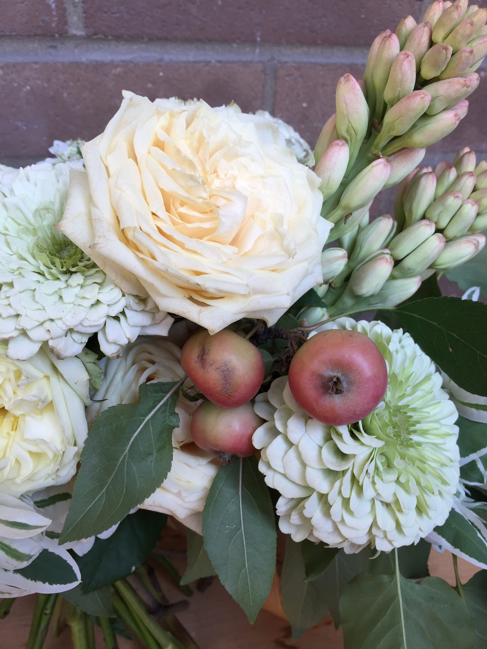 Crabapples!!! I love putting fruit in bouquets and arrangements!