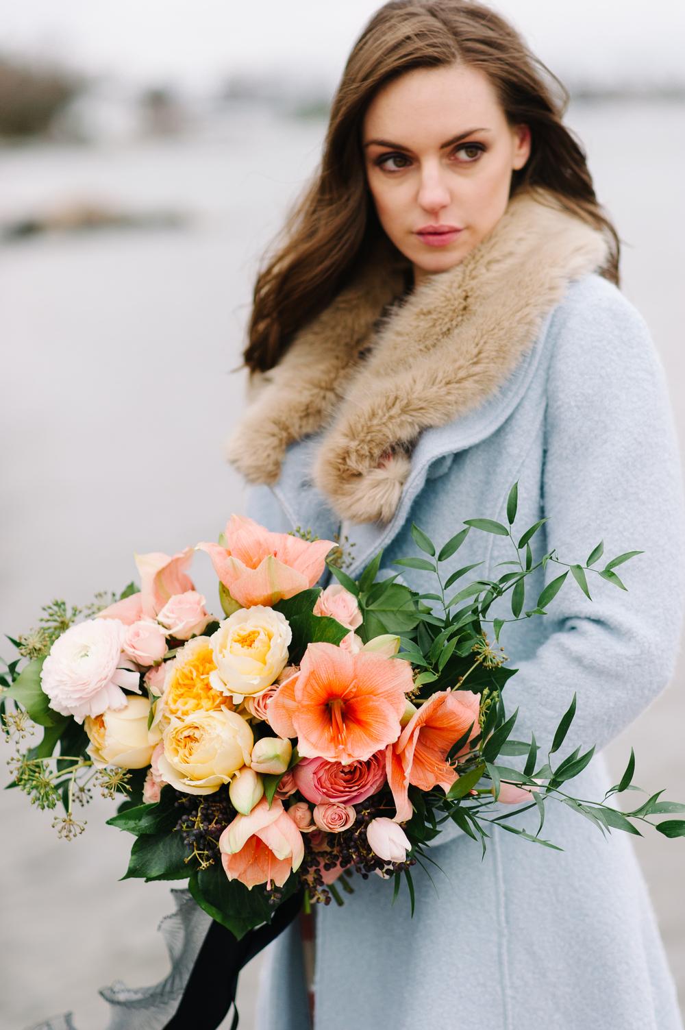 bright garden-style bridal bouquet | Quill+Oak Floral Design Toronto