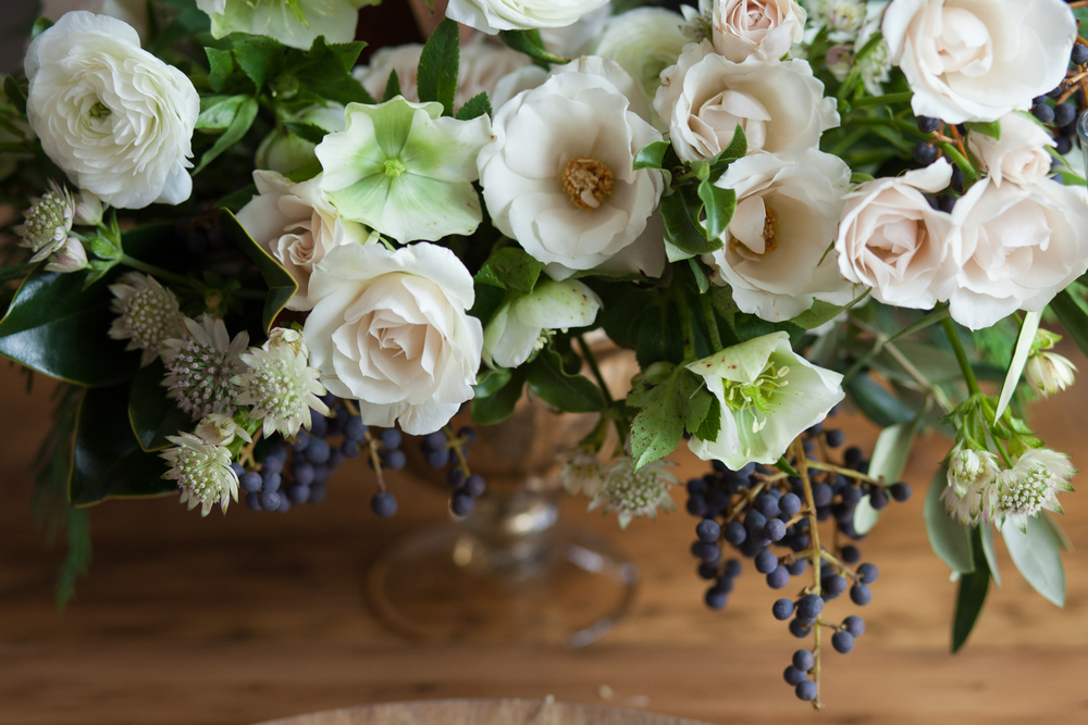 muted spring floral centrepiece | Quill+Oak Floral Design Toronto, Hamilton, Niagara