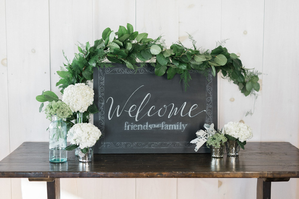 custom wedding chalkboard | Quill+Oak Calligraphy and Lettering Toronto