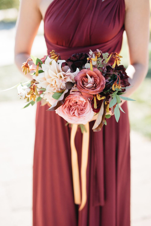 Rich Autumn Bridemaid Bouquet | Quill+Oak Floral Design Toronto, Hamilton, Niagara