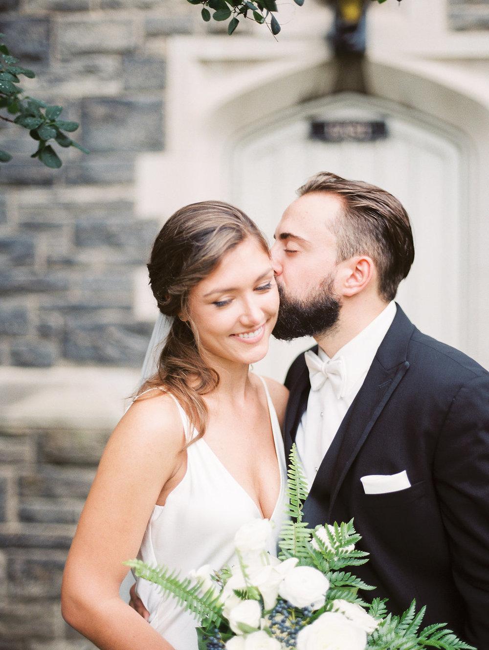 Romantic white and green bridal bouquet| Quill+Oak Floral Design Toronto, Hamilton, Niagara