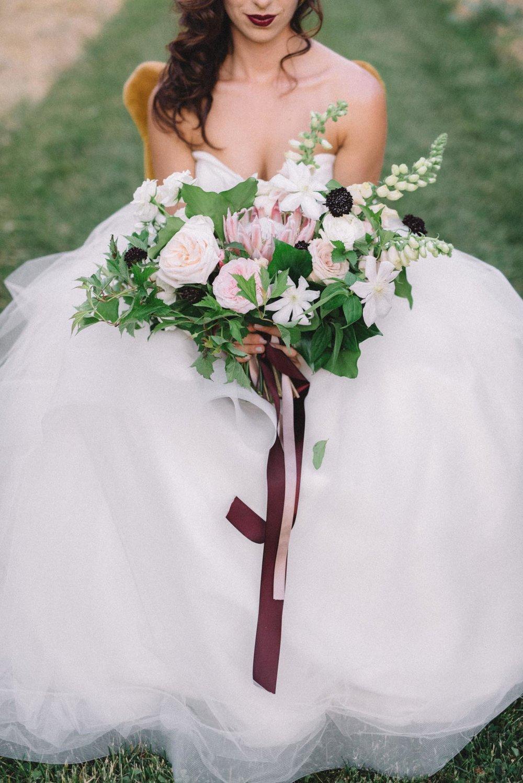 Modern garden-style orchard wedding bouquet | Quill+Oak Floral Design Toronto, Hamilton, Niagara