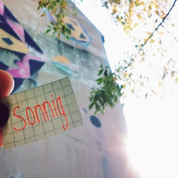 sonnig - sunny
