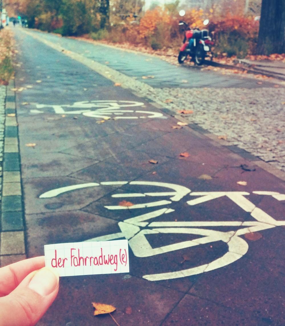 der Fahrradweg