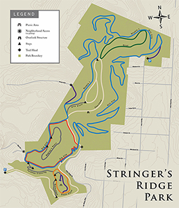 Stringer's Ridge Trail Map