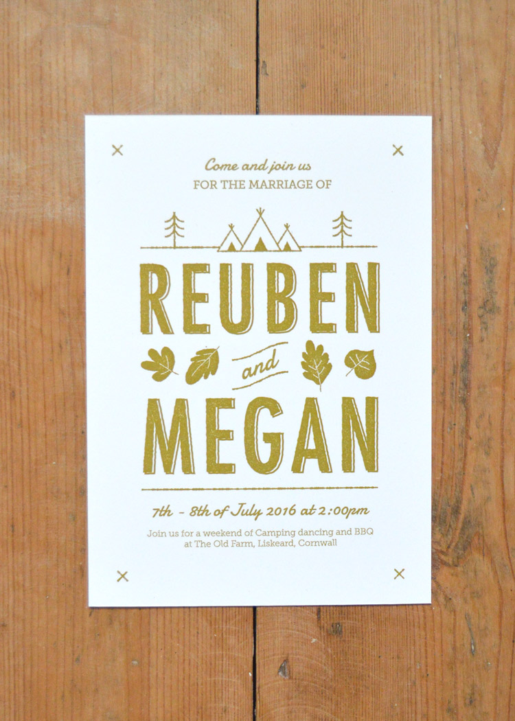 Summer Camp Wedding Invitation