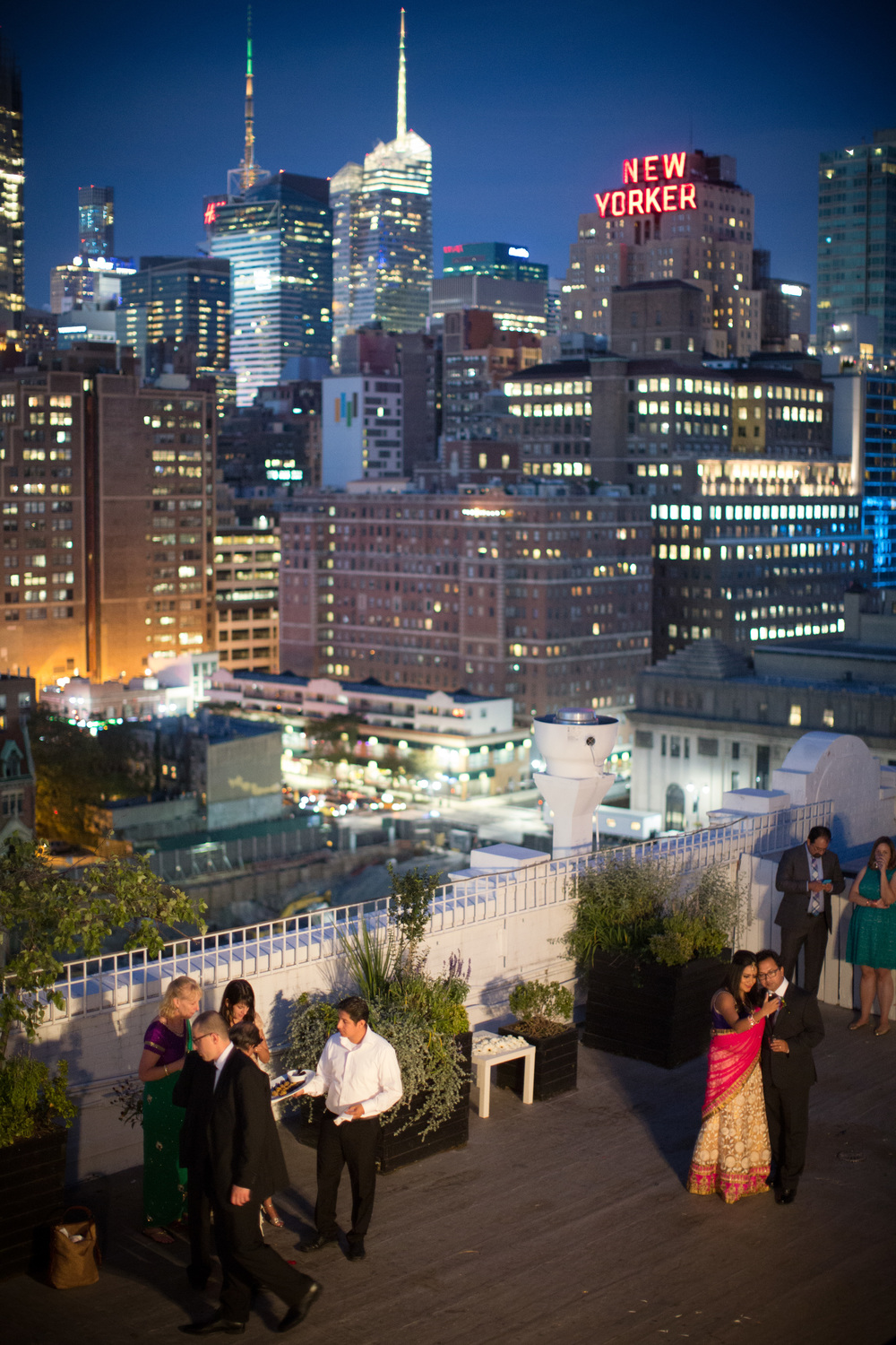 The beautiful rooftop venue is none other than  Studio 450 , a  unique New York City Loft Space and terrace located in Manhattan with incredible skyline views.