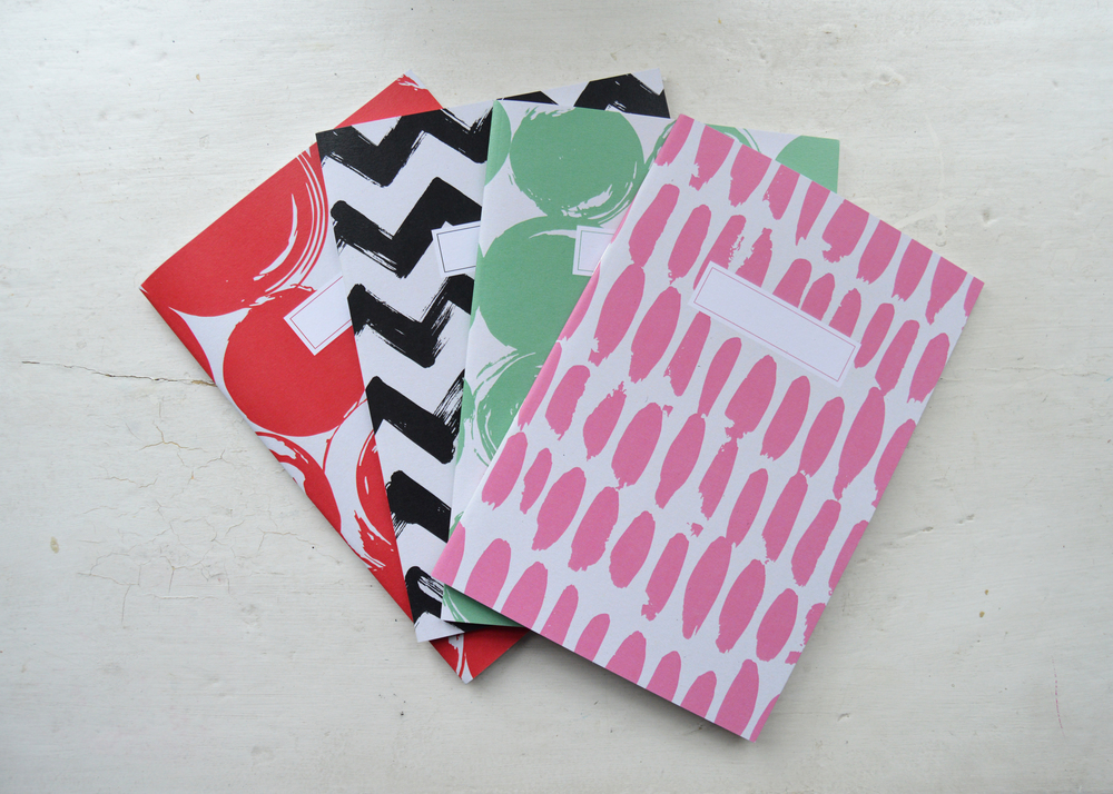 Dearly Beloved patterned notebooks £4 each, email us to purchase online - hello@dearlybeloveddesign.co.uk