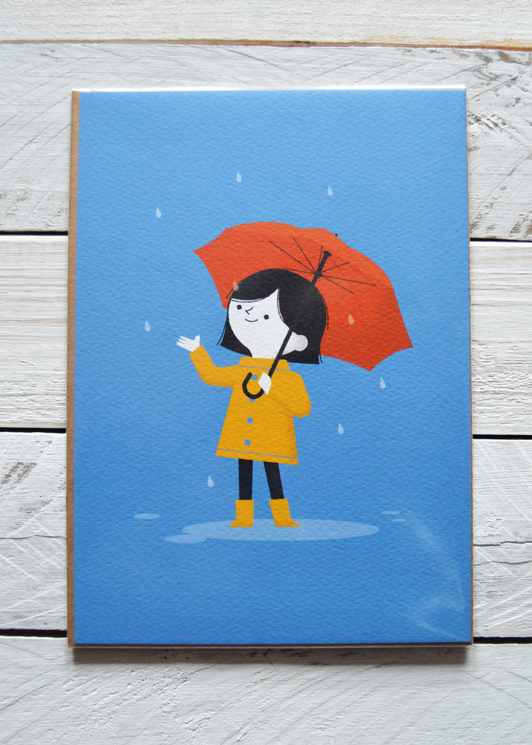Rainy Day, Illustration by Ben Aslett, £6.50