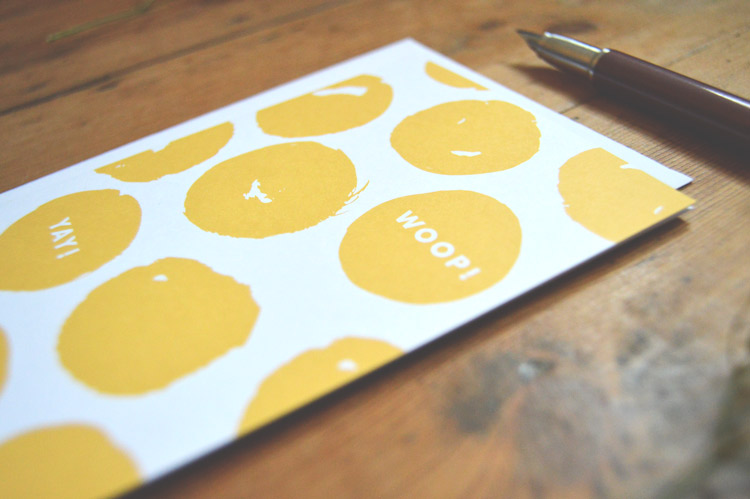 Woop! Yay! greetings card - £2.50