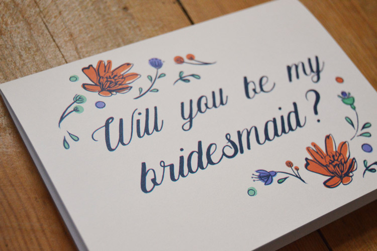 'Will you be my bridesmaid' card - £2.50