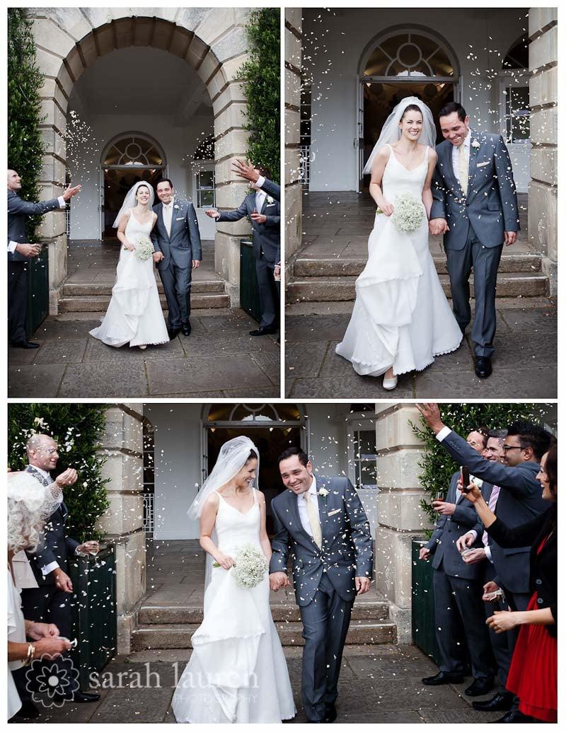 The happy couple on their big day! See more here on Sarah Lauren's blog