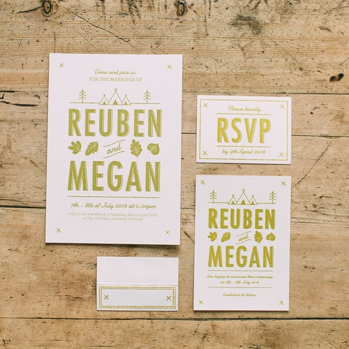 dearly beloved summer camp wedding stationery camping wedding wes anderson wedding creative - Camping Wedding Invitations