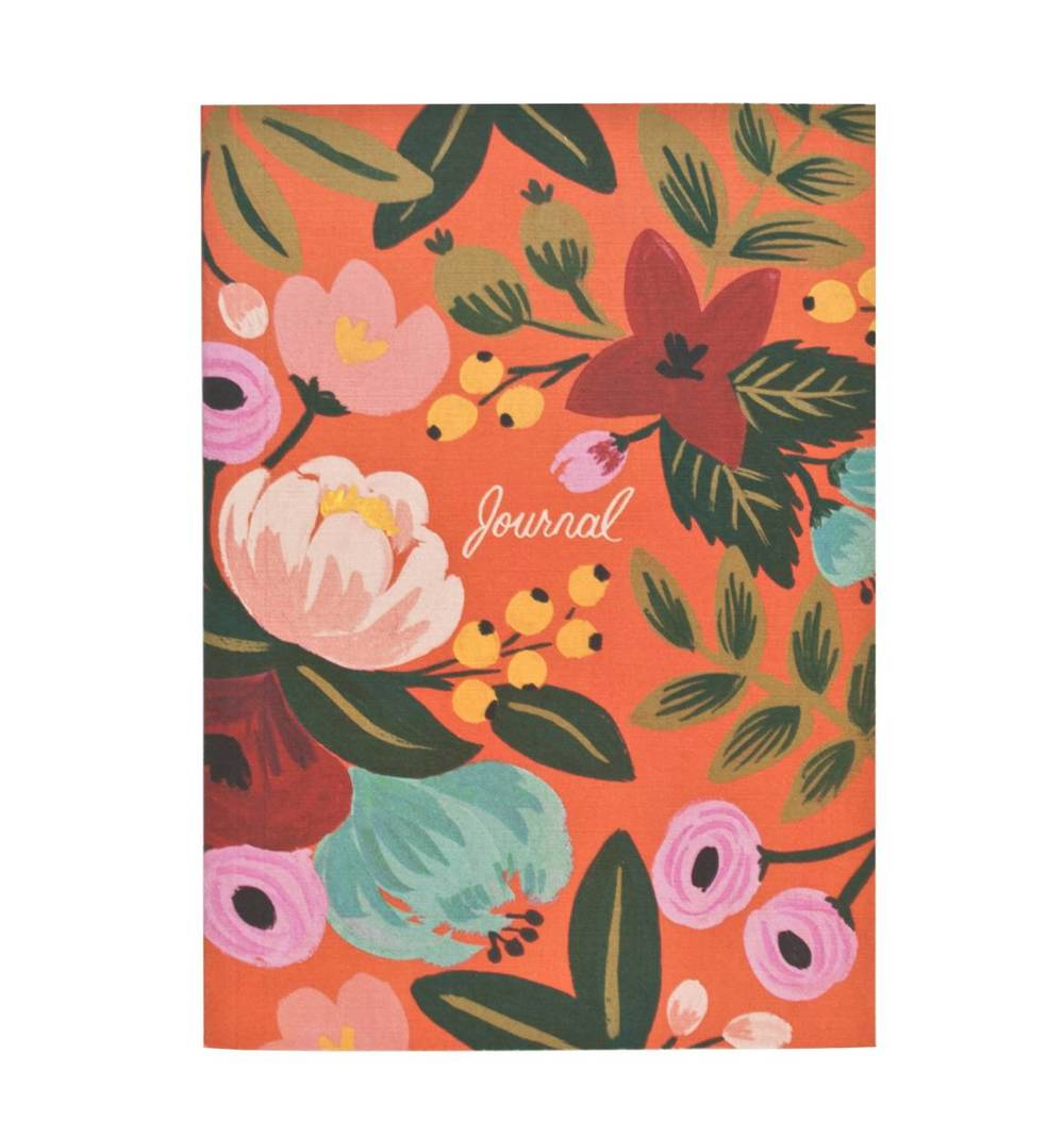 Evelina Journal  Rifle Paper Co. has a beautiful collection stationery and artwork, Abi's favourite is this journal featuring the signature Rifle bold, floral pattern.