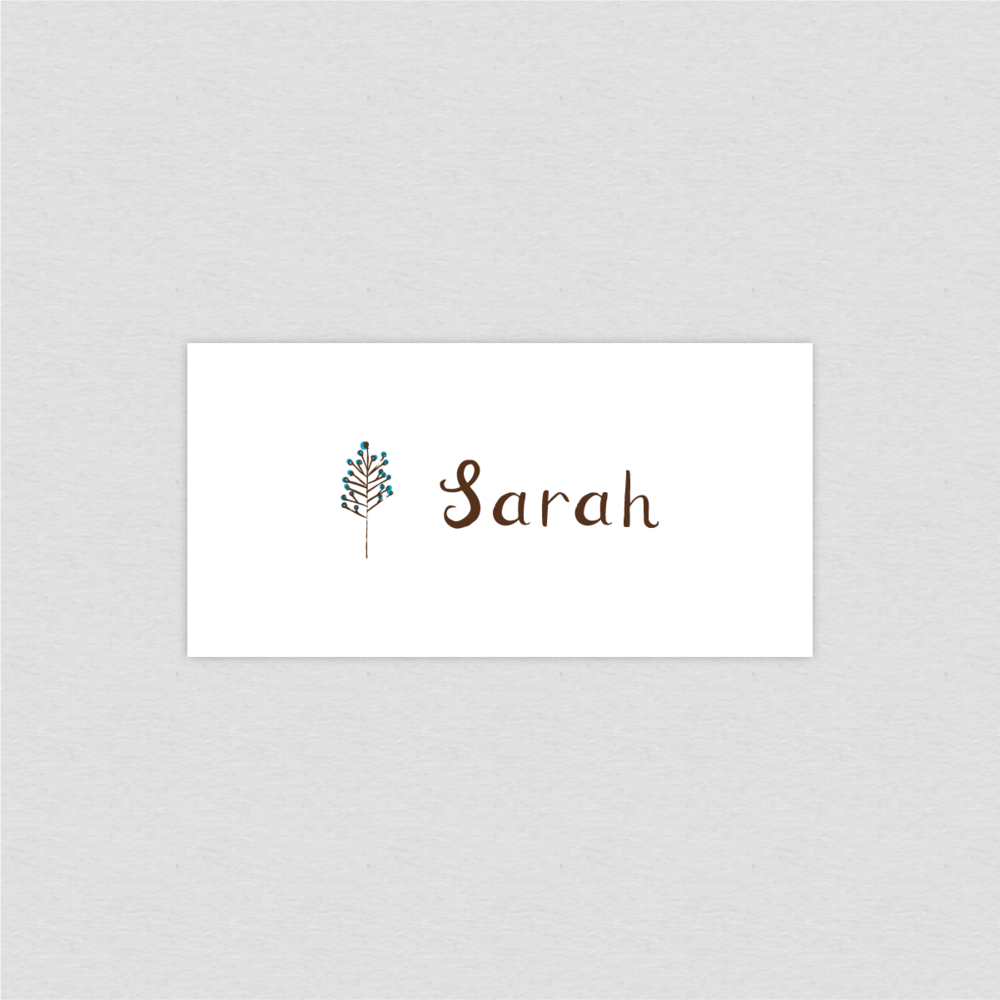 Dearly Beloved Flora and Fauna Wedding Place Setting