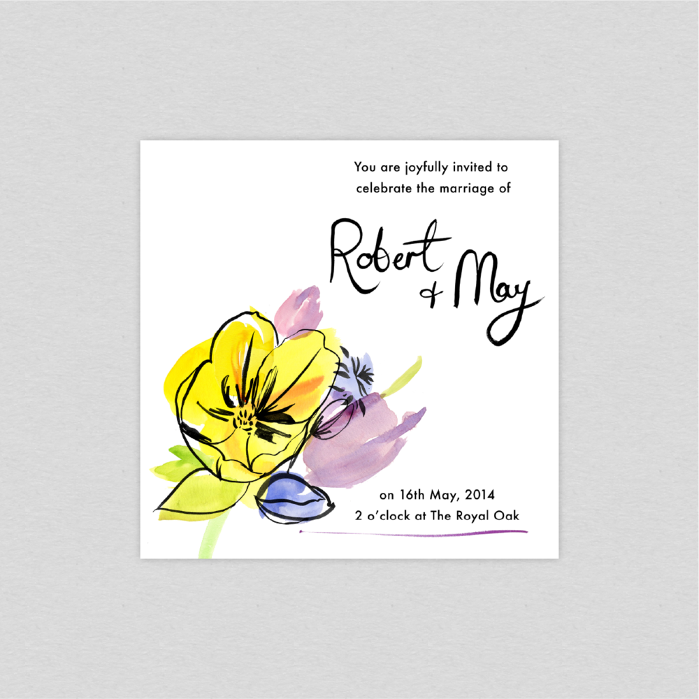 Dearly Beloved Spring Fete Wedding Invitation