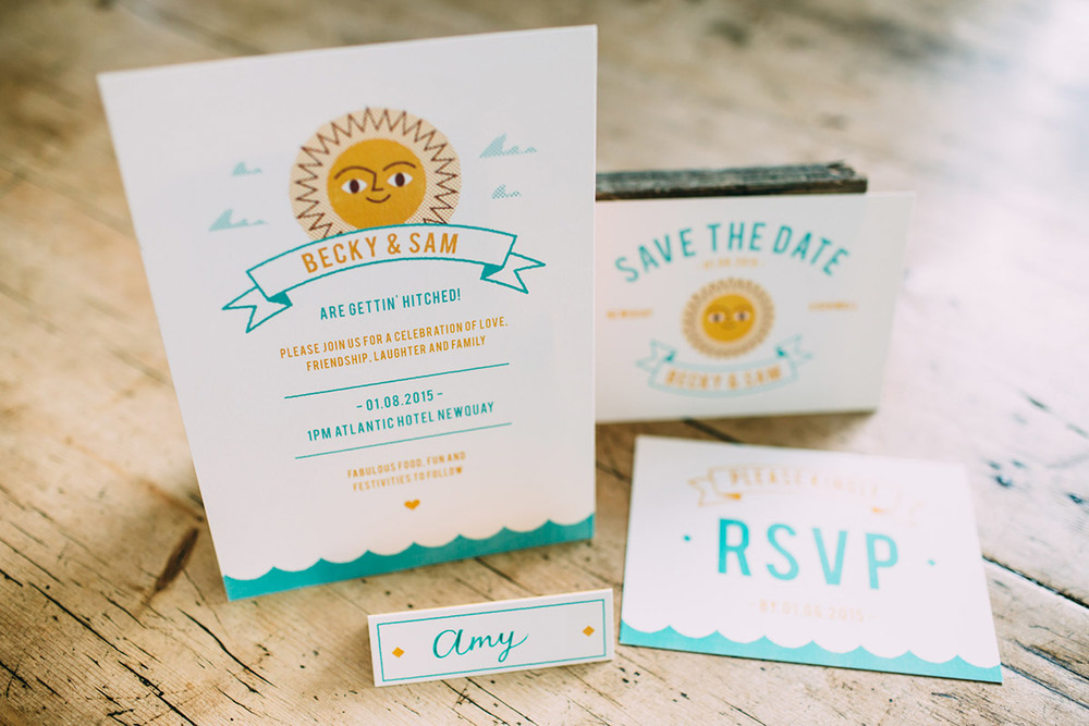 Dearly Beloved Summer Beach Wedding Stationery Collection