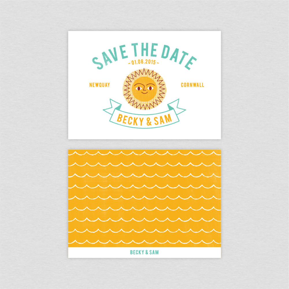 Dearly beloved Summer Beach Wedding Save the Date cards