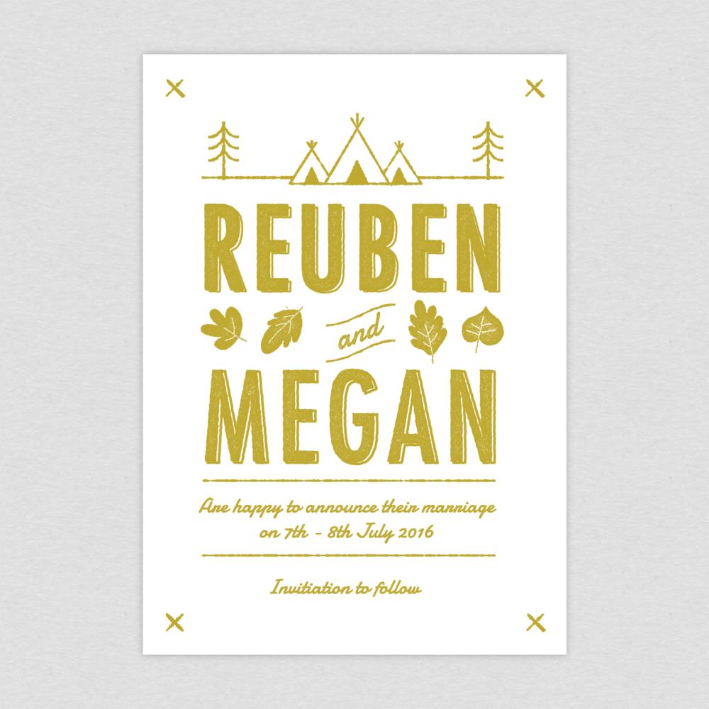 Dearly Beloved Summer Camp Wedding Invitation