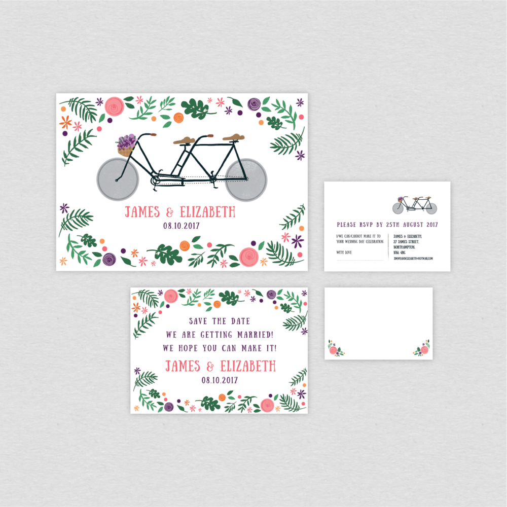 Dearly Beloved Bike Lovers Wedding Stationery Collection
