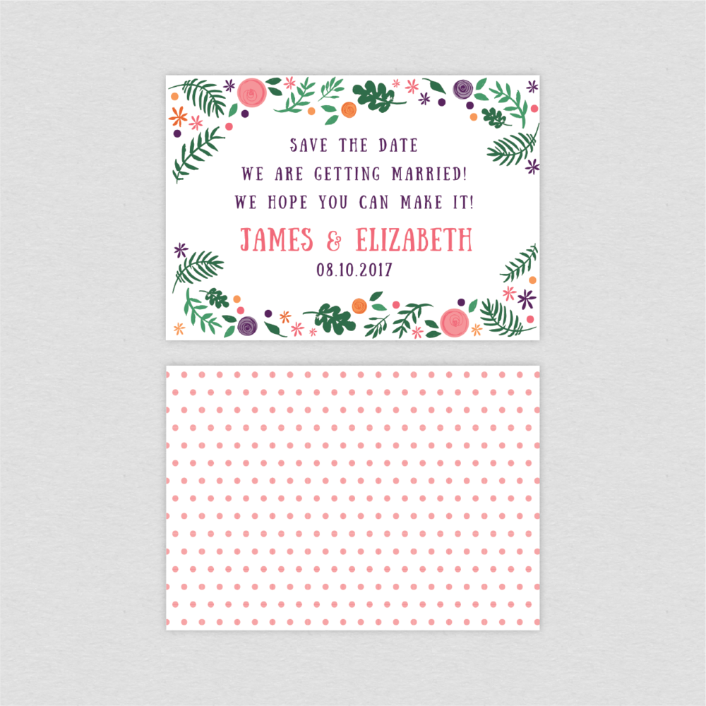 Dearly Beloved Bike Lovers Save the Date card