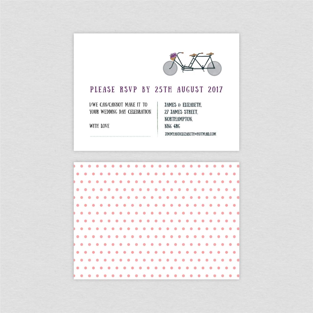 Dearly Beloved Bike Lovers RSVP card