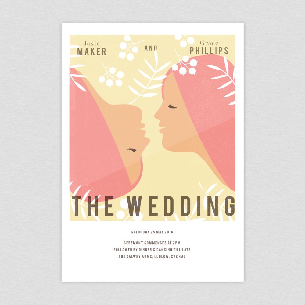 Dearly Beloved Vintage Movie Wedding Invitation