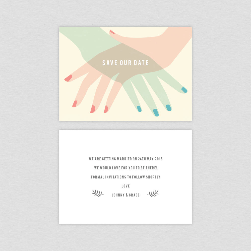 Dearly Beloved Vintage Wedding Save the Date Cards