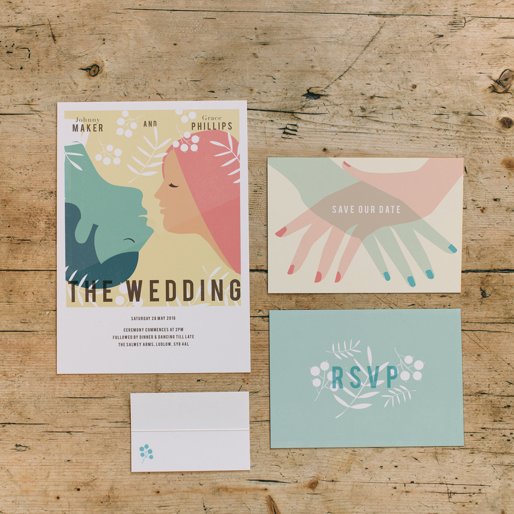 Dearly Beloved Vintage Movie Wedding Stationery Collection , now available for you to purchase in our  online shop !
